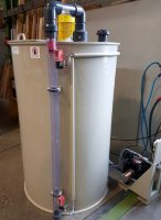 Wastewater tank with agitator - 1000L