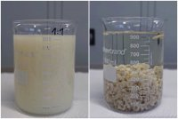 Physicochemical water treatment; before and after