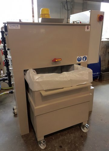 A SW200 station to treat wastewater of an industrial joinery.